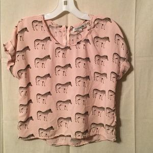 Forever 21 light pink top/Zebra's